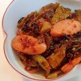 ❤ウインナーと辛子高菜の胡麻油炒め❤