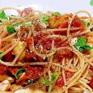 ブリのトマトソーススパゲティー
