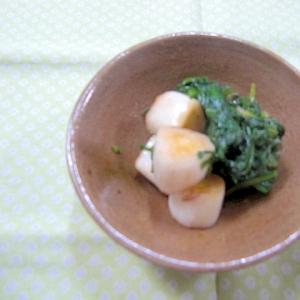 白ネギと春菊の甘醤油炒め