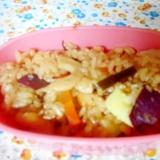 さつま芋とチクワと昆布の炊き込みご飯