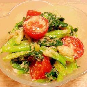 小松菜トマトで彩りナムル