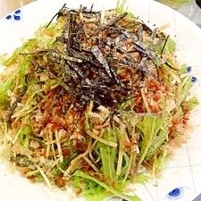 シャキシャキ水菜と大根のサラダ