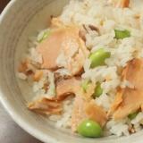 一人用土鍋で炊く 鮭の炊き込みご飯