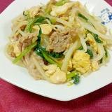こくウマ~!もやし・豚肉・青菜・卵の中華炒め