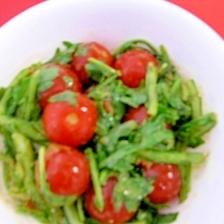 菊菜とミニトマトの豆腐よう和え