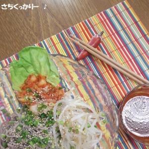 つけ汁 de キムチ蕎麦
