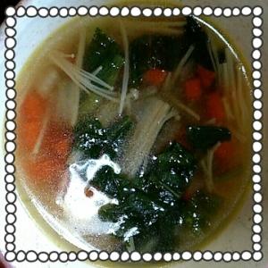 +サプリでDHA入りスープ