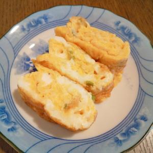 長ネギ&小エビ&チーズの卵焼き