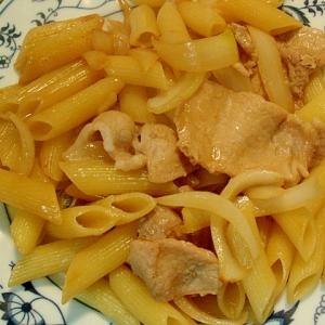 豚の生姜焼き パスタ
