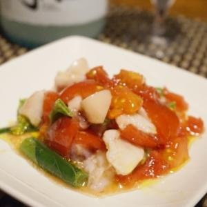 【新潟食材】蛸とアスパラ菜のセビチェ