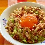 サバ缶と納豆の激ウマ丼♫