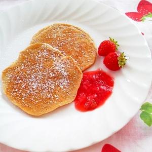 大豆粉deいちごミルクパンケーキ♪