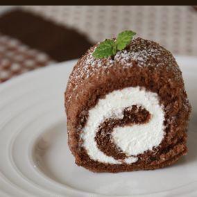 簡単!ココア×チーズクリームのミニロール