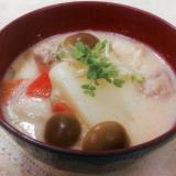 スキムミルク入り味噌のお雑煮