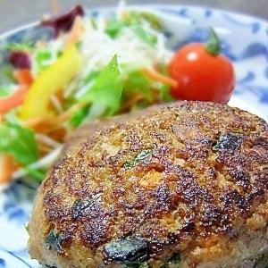 低カロリー★ほうれん草と豆腐の和風ハンバーグ