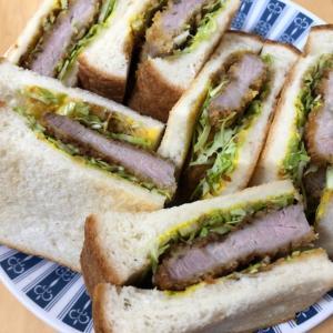 宮崎県都城産クイーンハーブ豚の手作りカツサンド
