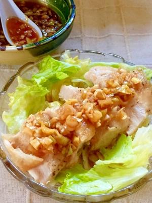 タレが絶品♡鶏むね肉で油淋鶏(ユーリンチー)
