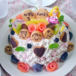 プリティー☆バースデーケーキ 卵、乳製品、砂糖なし