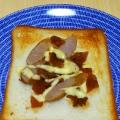 おかか/マヨで ウインナーと福神漬けの和風トースト
