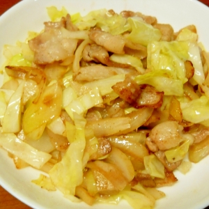 うちのハラペコ男子が作った肉野菜炒め