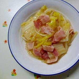白菜とベーコンのとろーり炒め