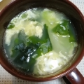 玉ねぎとワカメの☆コンソメ卵スープ
