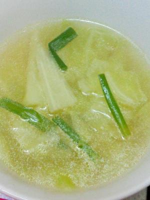 簡単★たっぷり野菜★キャベツとニラの中華スープ