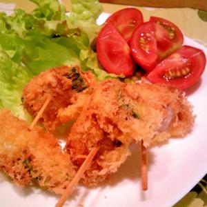 きゅうり・玉葱の豚巻フライ