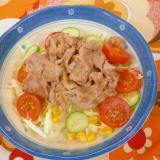 豚肉サラダ