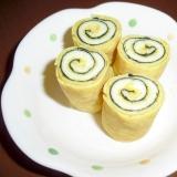 """卵1個でOK♪我が家の""""くるくる海苔チーズ卵焼き"""""""