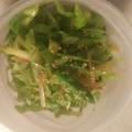 レタスみょうがアスパラのバルサミコサラダ