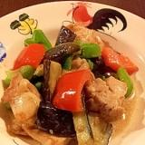 タイ料理★鶏肉と野菜の炒め物 グリーンカレー風