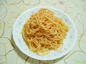 超簡単めんたいスパゲティ