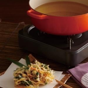 [ル・クルーゼ公式] 根菜とホタテのかき揚げ