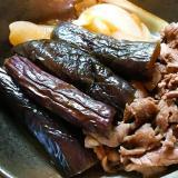 茄子と牛肉のすき煮