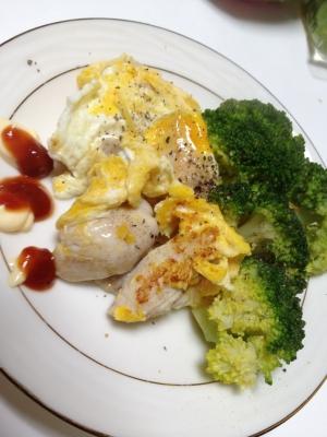 鶏肉のウェイパーとチーズのピカタ