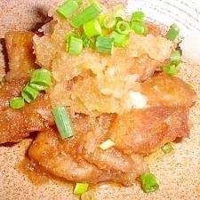 鶏竜田のおろしポン酢がけ