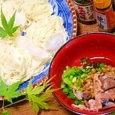 冷たいひっぱり饂飩or素麺