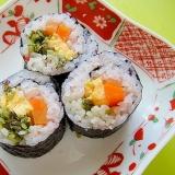 雑穀米で♡しそ漬と玉子にんじんの巻き寿司
