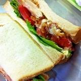 簡単!鶏から揚げサンドイッチ