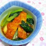 さつま揚げと小松菜のサッと煮++