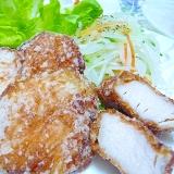 めんつゆで簡単☆鶏むね肉の竜田揚げ
