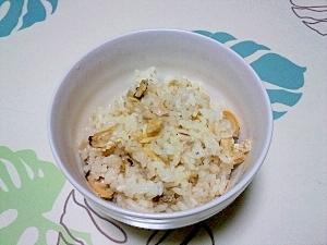生姜と白だしで炊いた♪あさりご飯++