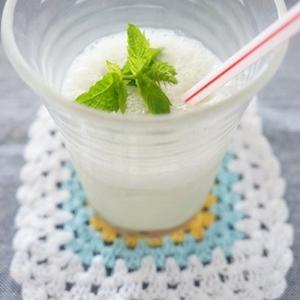 ミキサーで簡単☆ほうれん草パウダーで豆乳シェイク