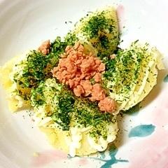 蒸かしじゃが芋の青海苔香るマヨ鮭フレーク和え