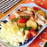 カラフル野菜と豚肉のグリル