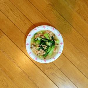 チンゲン菜ときのこの中華煮
