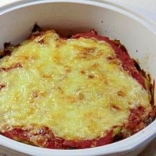 シンプルな、キャベツのトマトソースグラタン
