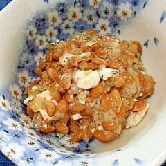 納豆の食べ方-ピクルス&クリームチーズ♪