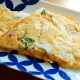 まな板なし❤茹で大豆入り卵焼き♪(大葉&紅生姜)